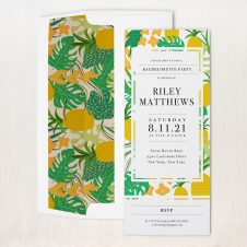 Yellow Pineapple Party Invitations