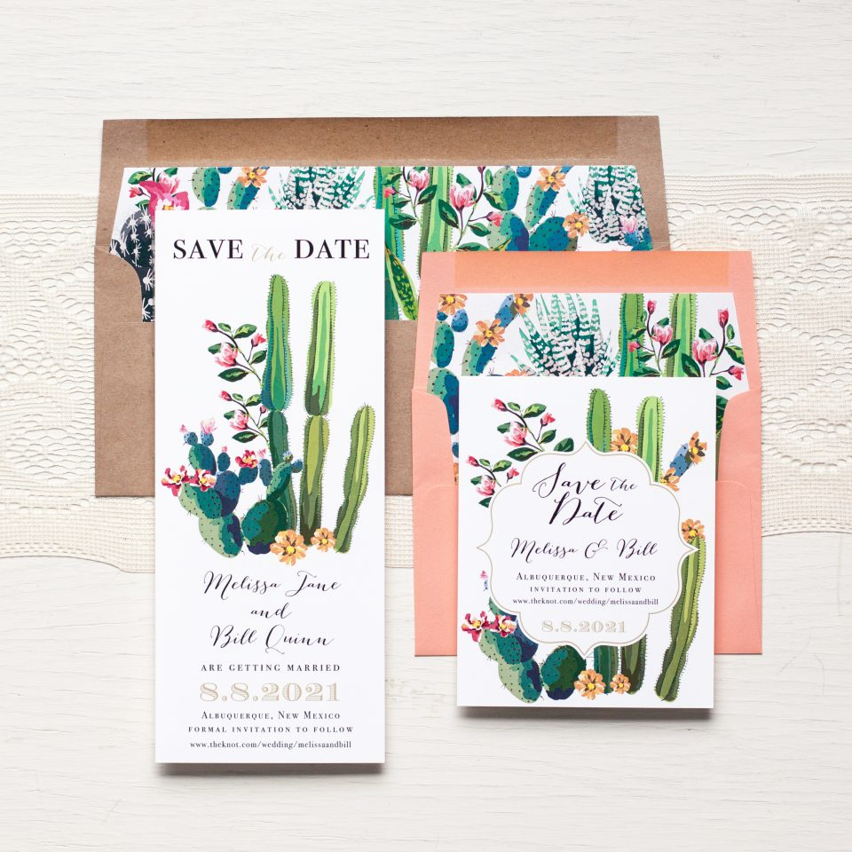 Matching Wedding Day Stationery: Desert Love JAN