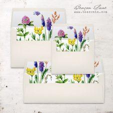 Green Garden Envelope Liners