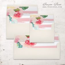 Painted Floral #2 Envelope Liners