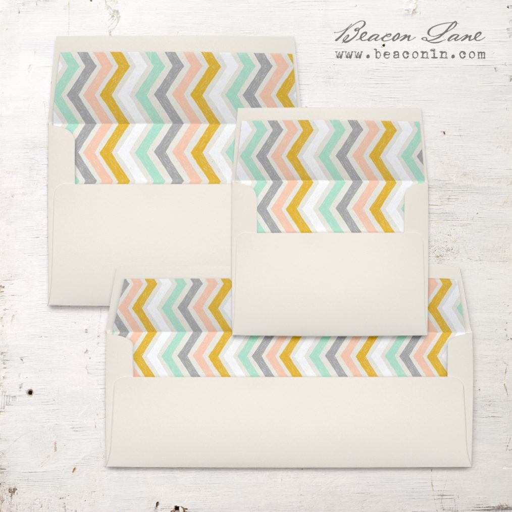 Pastel Pencil Envelope Liners