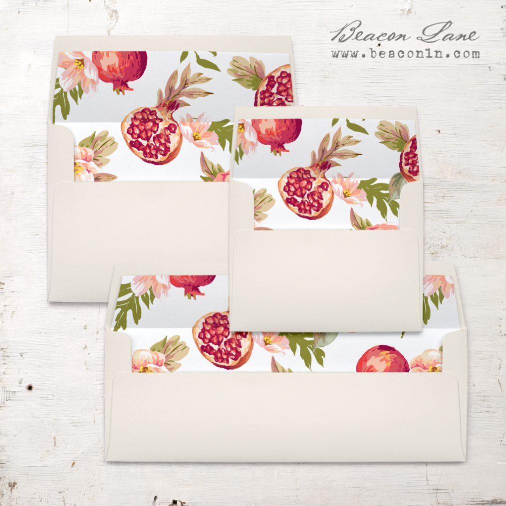 Pomegranate Pop Envelope Liners