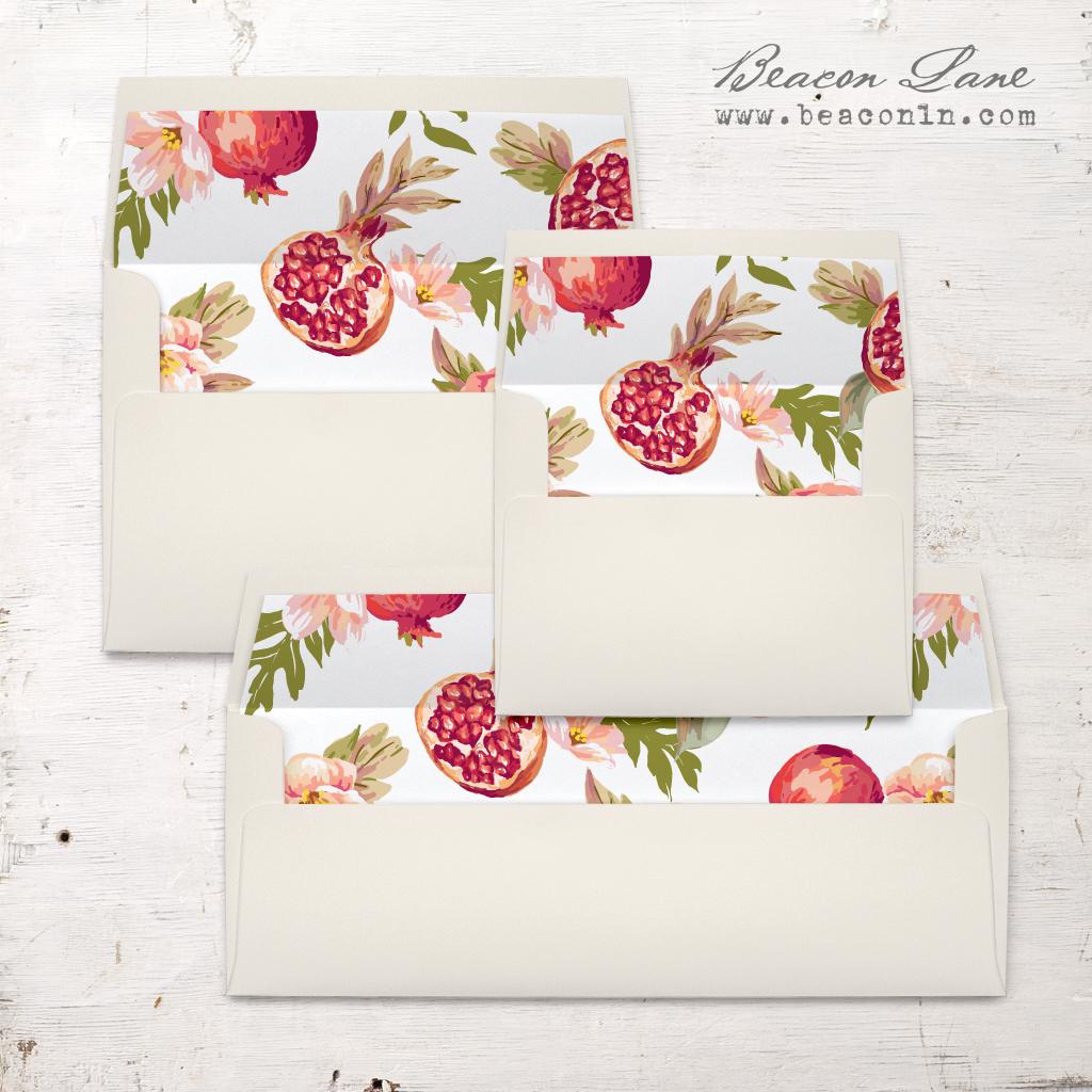 Pomegranate Pop Envelope Liner | Beacon Lane