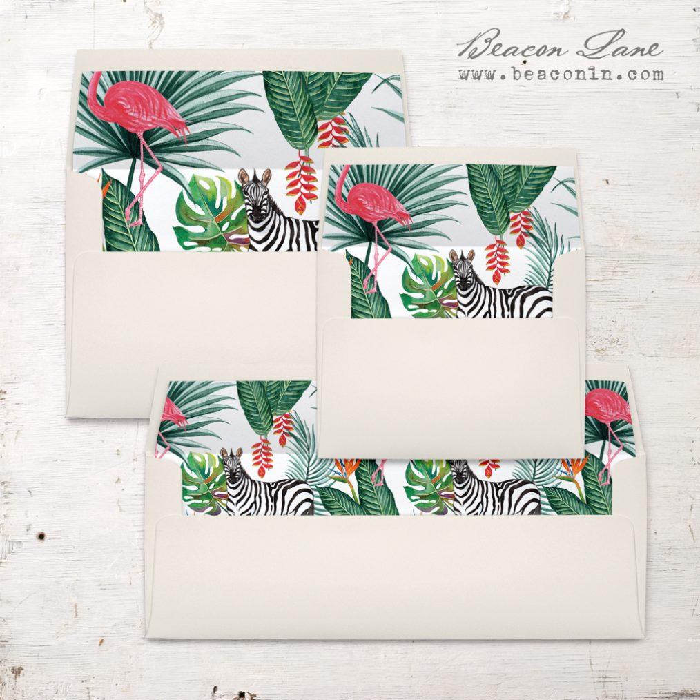 Safari Fun Envelope Liners