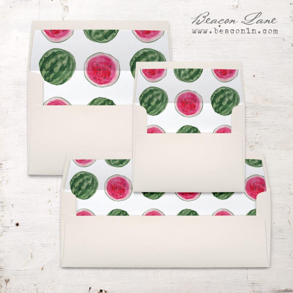 Watermelon Crush Envelope Liners