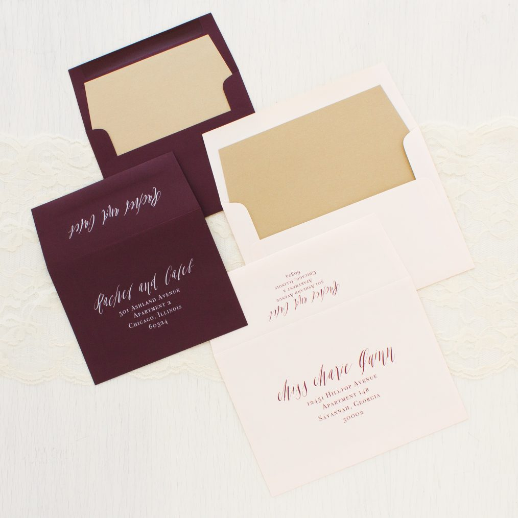 Blush & Burgundy Wedding Invitations