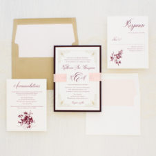 Classic Burgundy Wedding Invitations