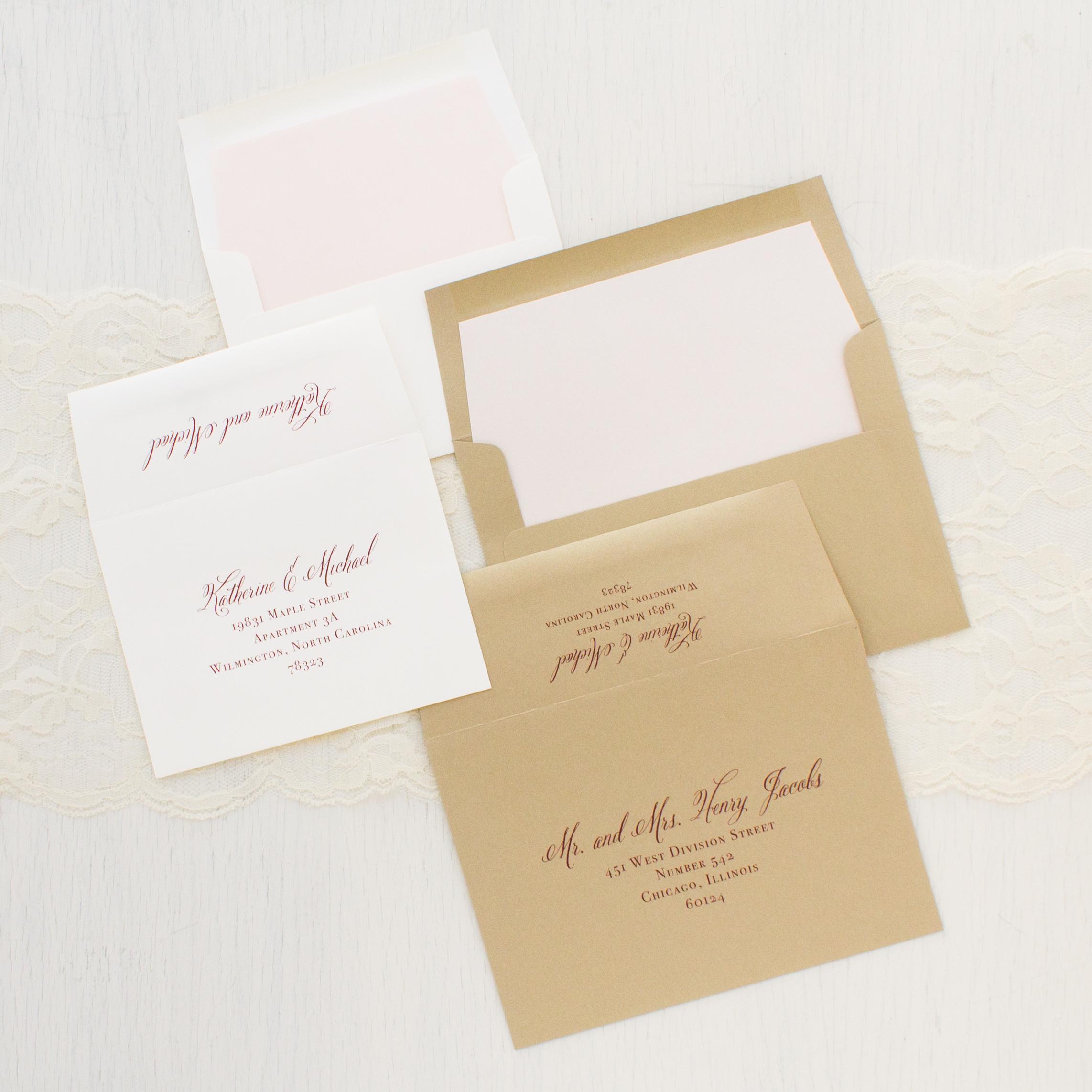 Classic Burgundy Wedding Invitations | Beacon Lane