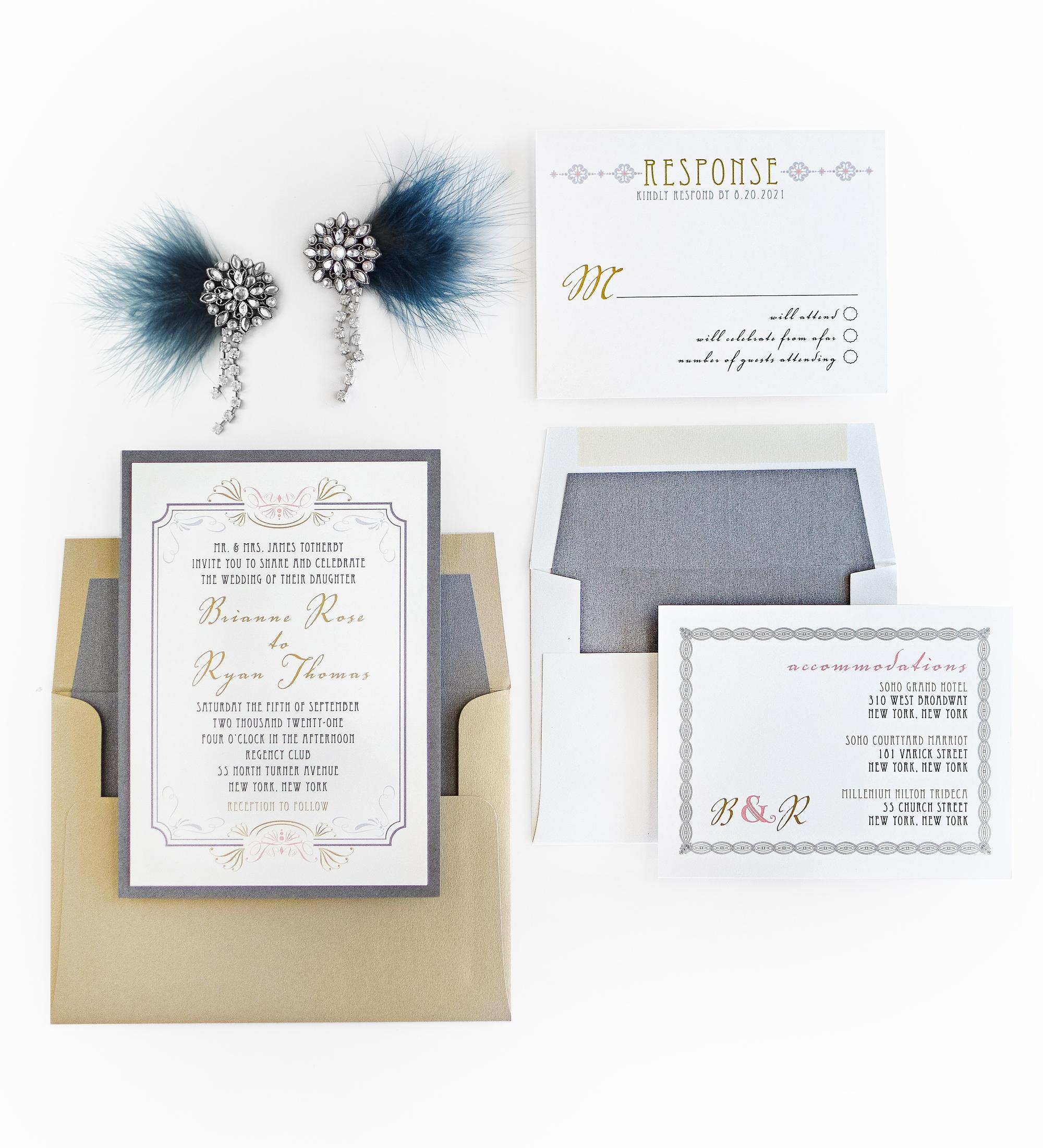 vintage wedding invitations | Beacon Lane