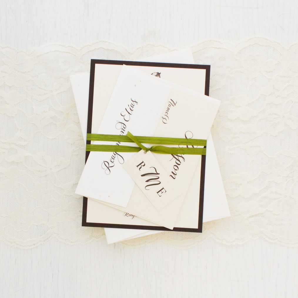 Elegant Tropical Wedding Invitations