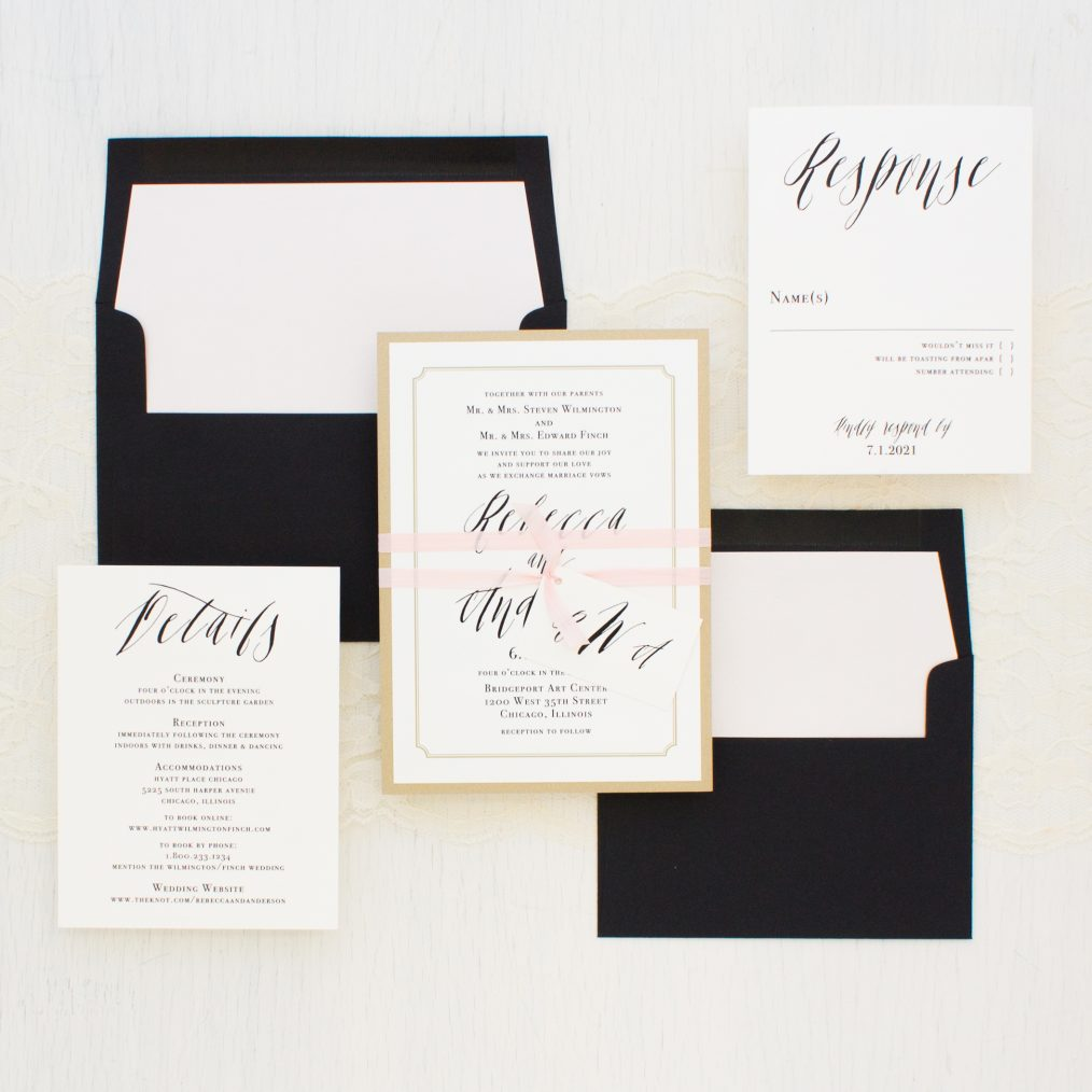 Elegant Type Wedding Invitations