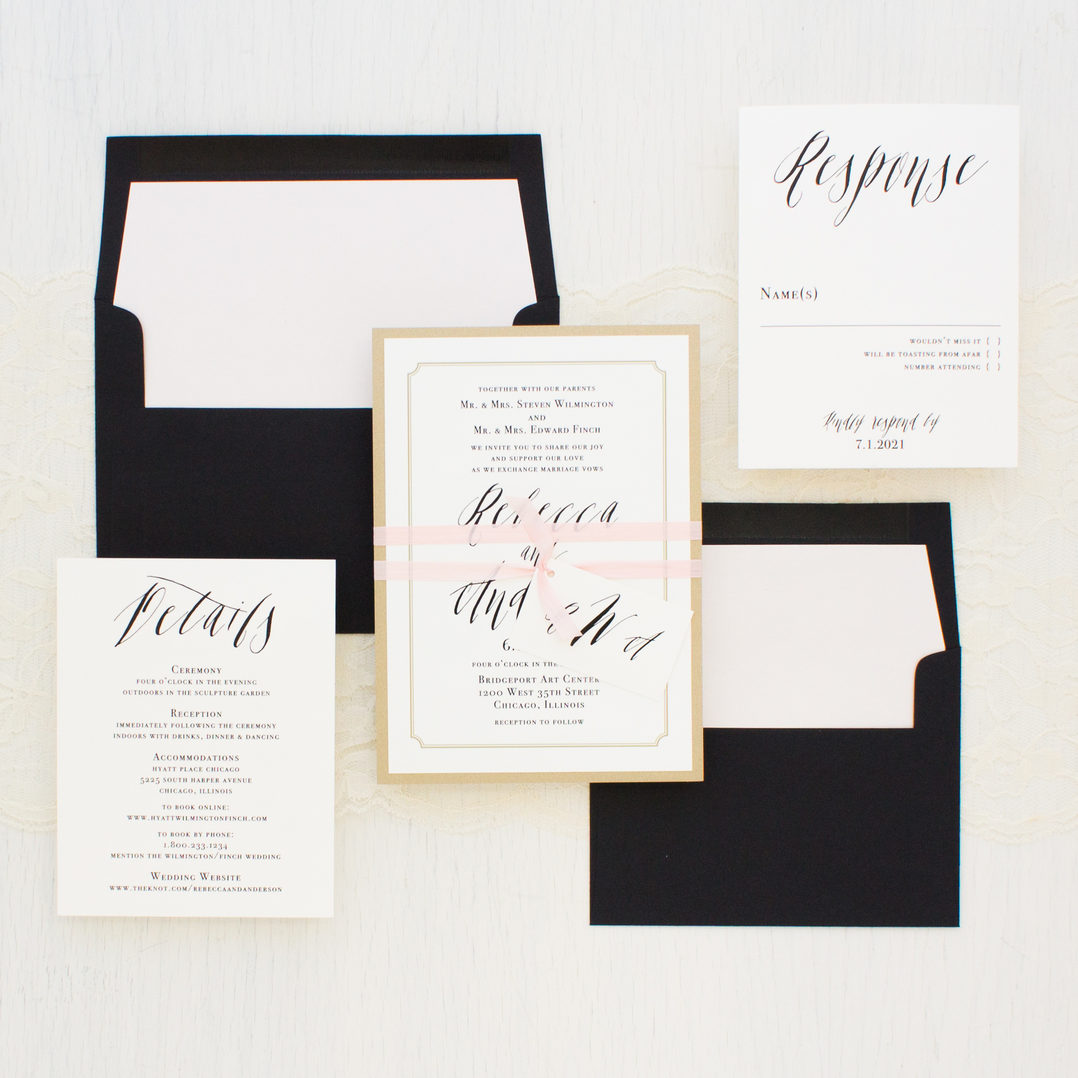 Elegant Type Wedding Invitations