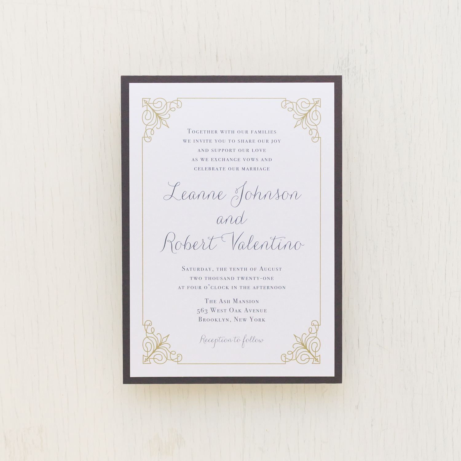 Simple Gray Wedding Invitations