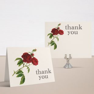 Jewel Tone Rose Bridal Shower Thank You Cards
