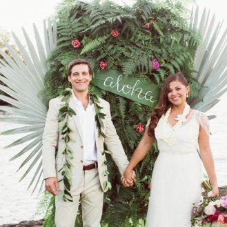 A Casual Beach Wedding in Puako, Hawaii