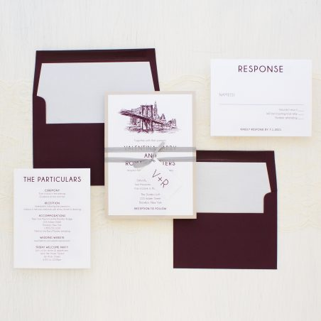 Brooklyn Bridge Wedding Invitations