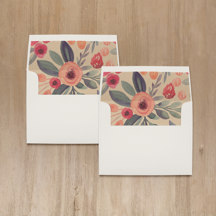 Soft Watercolor Bridal Shower Thank You Cards
