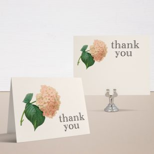 Blush Hydrangea Bridal Shower Thank You Cards