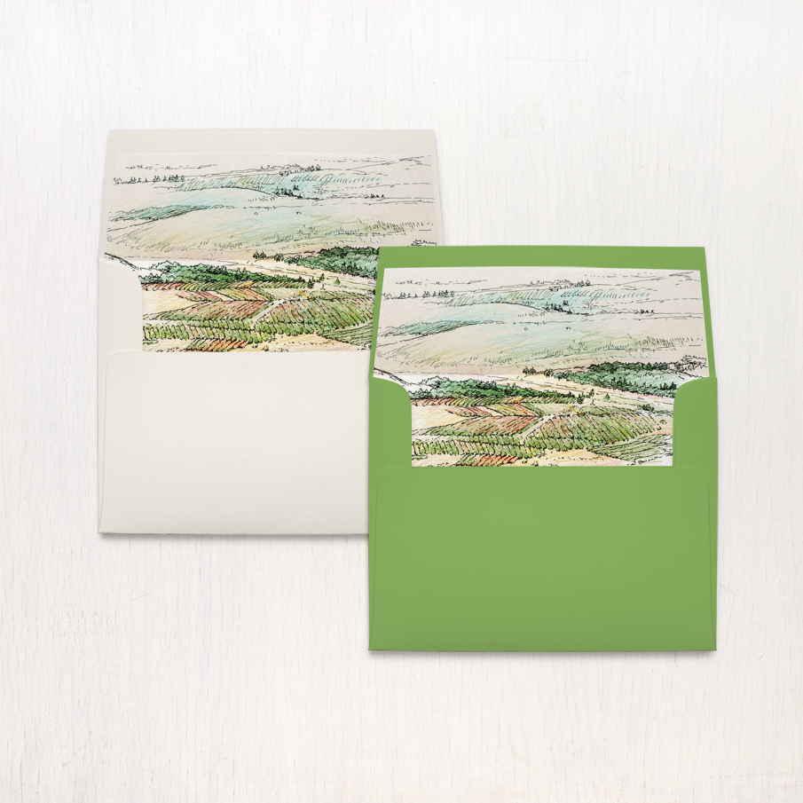 Winery Landscape Thank You Cards