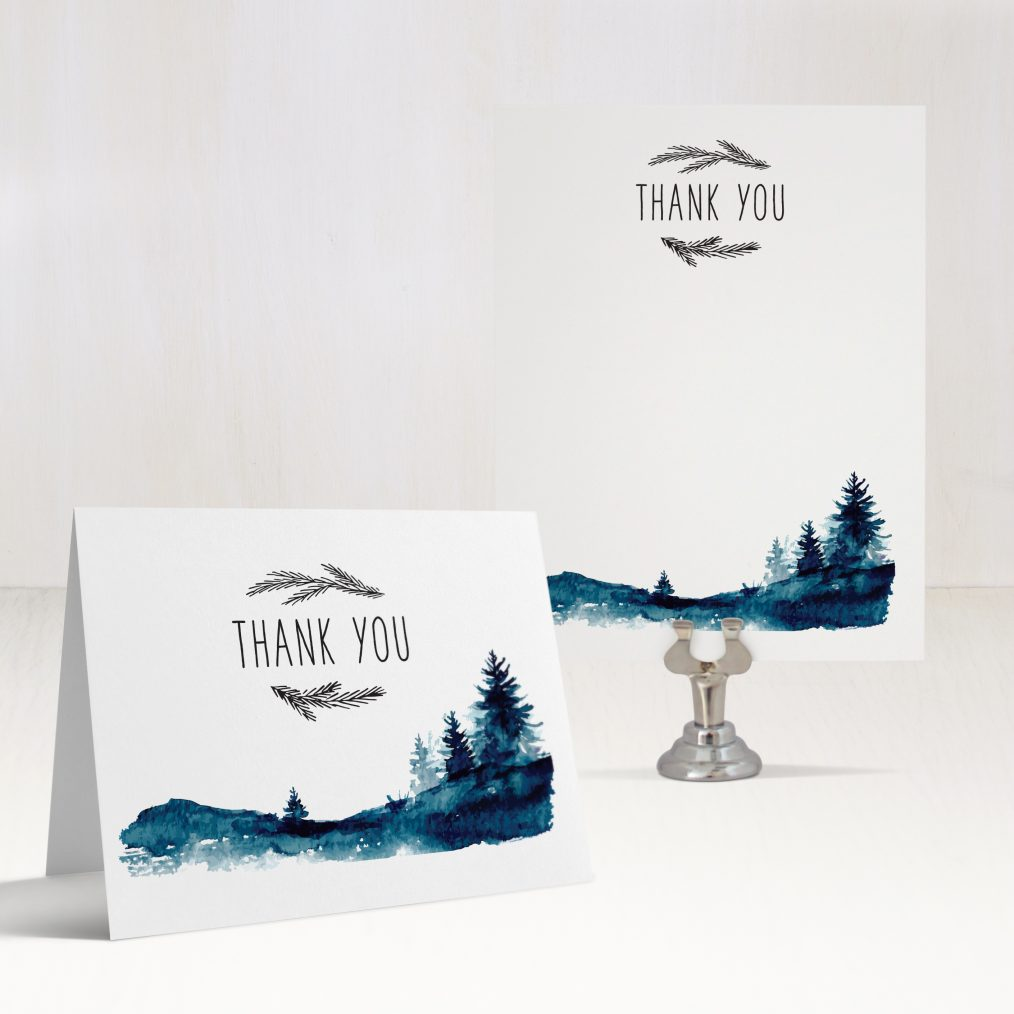 Blue Mountain Thank You Cards