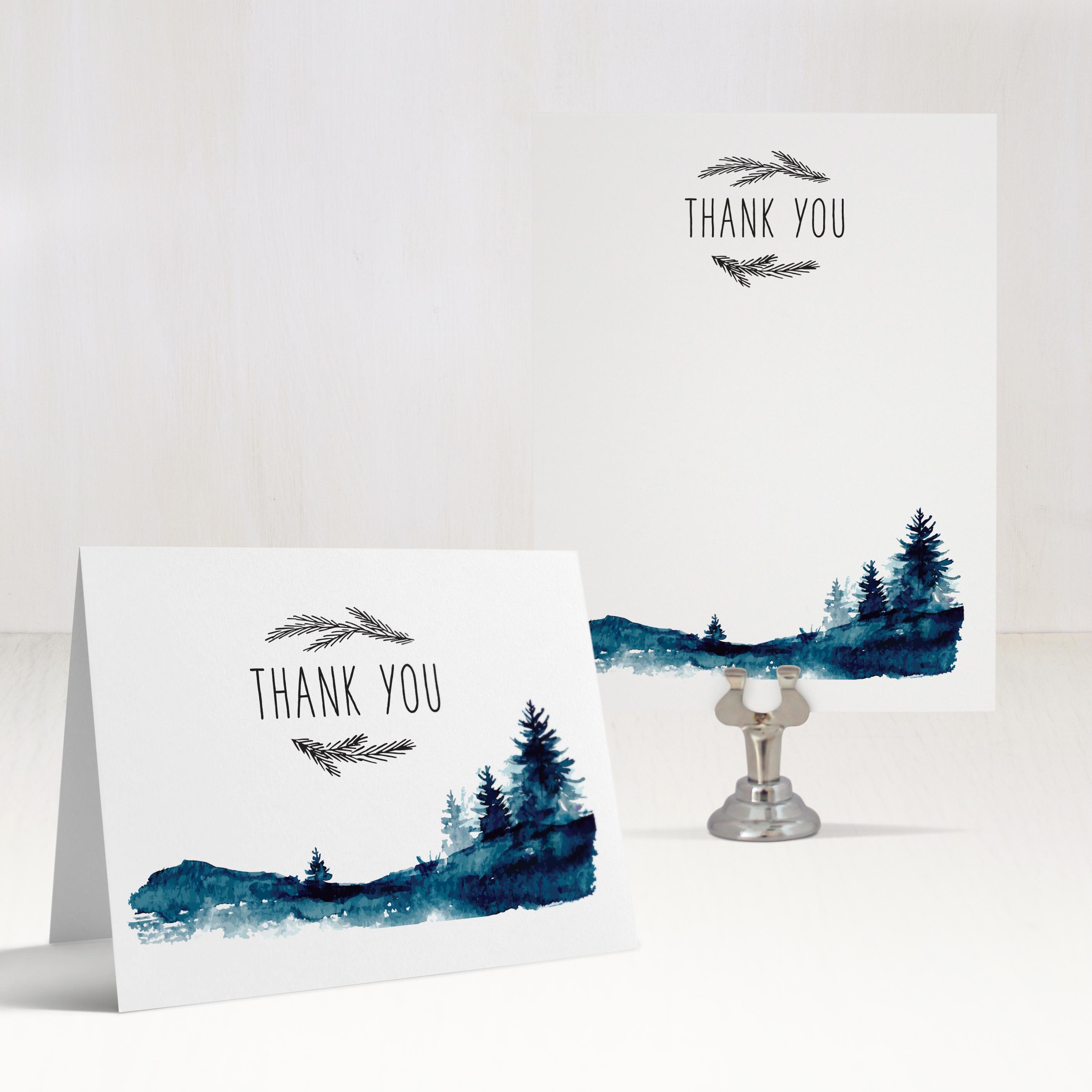 Blue Mountain Customizable Thank You Cards | Beacon Lane