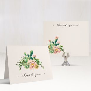 Blush Cactus Thank You Cards