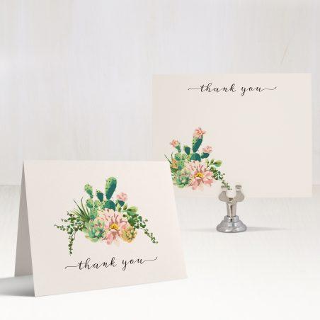 Blush Cactus Thank You Cards