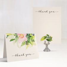 Blush & Coral Floral Thank You Cards