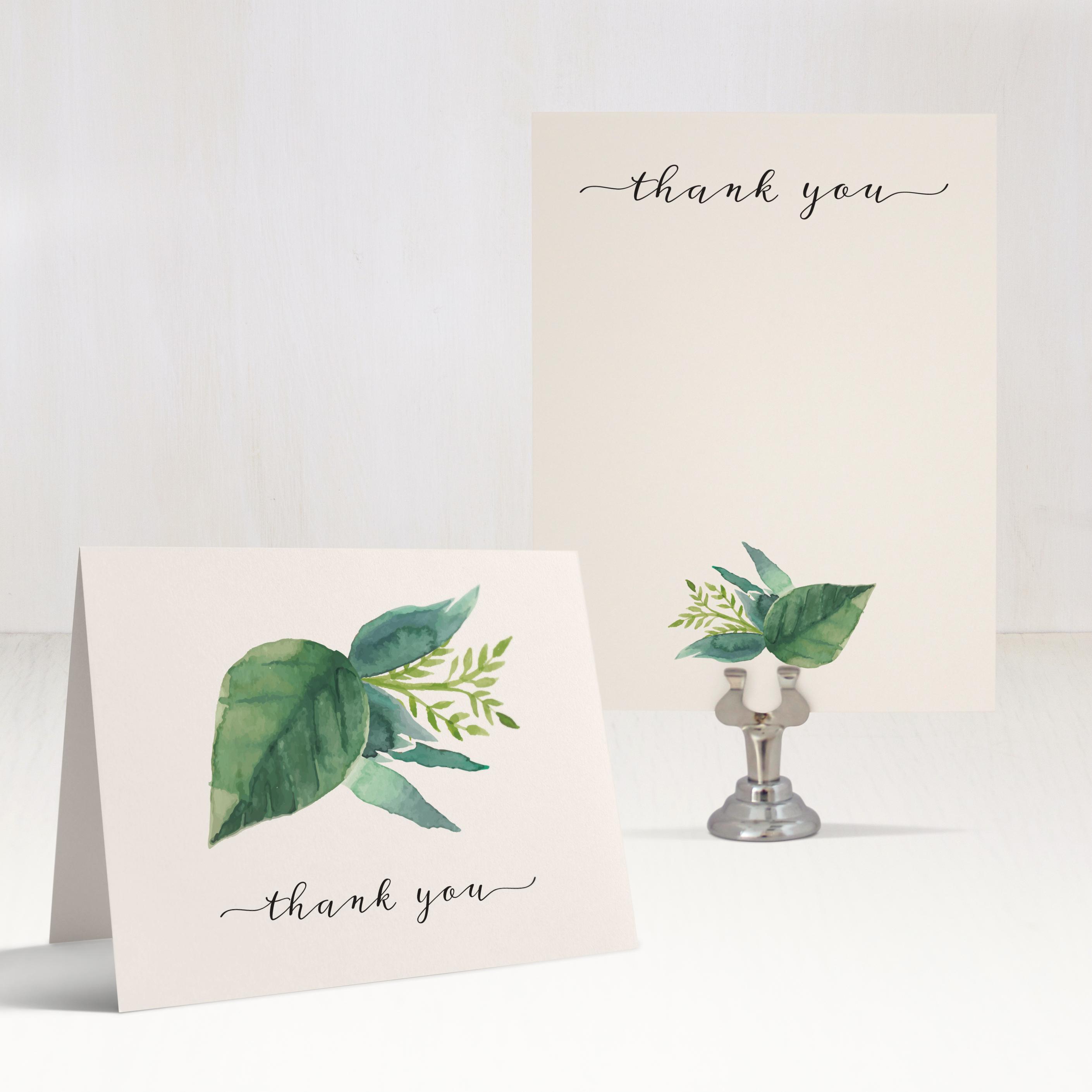 Botanical Garden Customizable Thank You Cards Beacon Lane