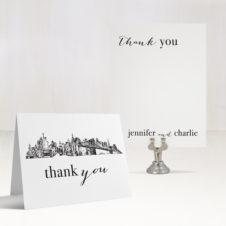 City Skyline Thank You Cards