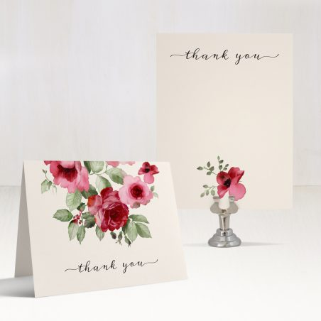 Cranberry Crush Thank You Cards