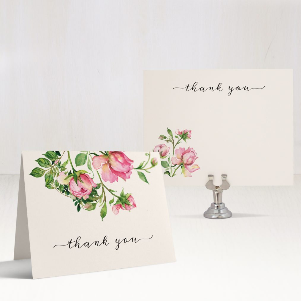 Dusty Rose Thank You Cards
