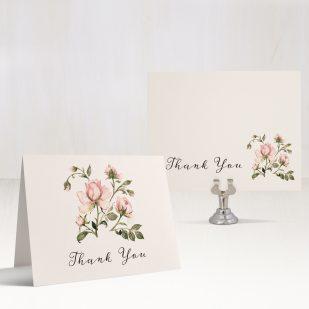 Garden Roses Thank You Cards