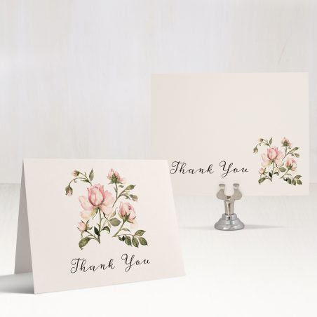 Garden Roses Thank You Cards