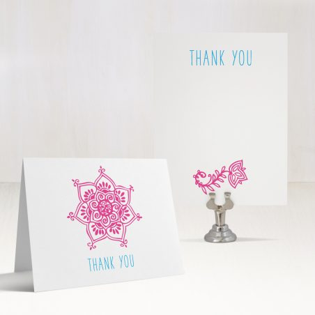 Henna Love Gold Thank You Cards