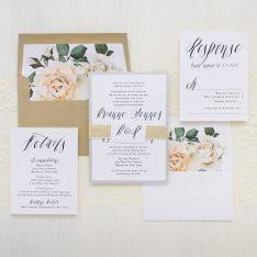 Matching Wedding Day Stationery: Modern Calligraphy