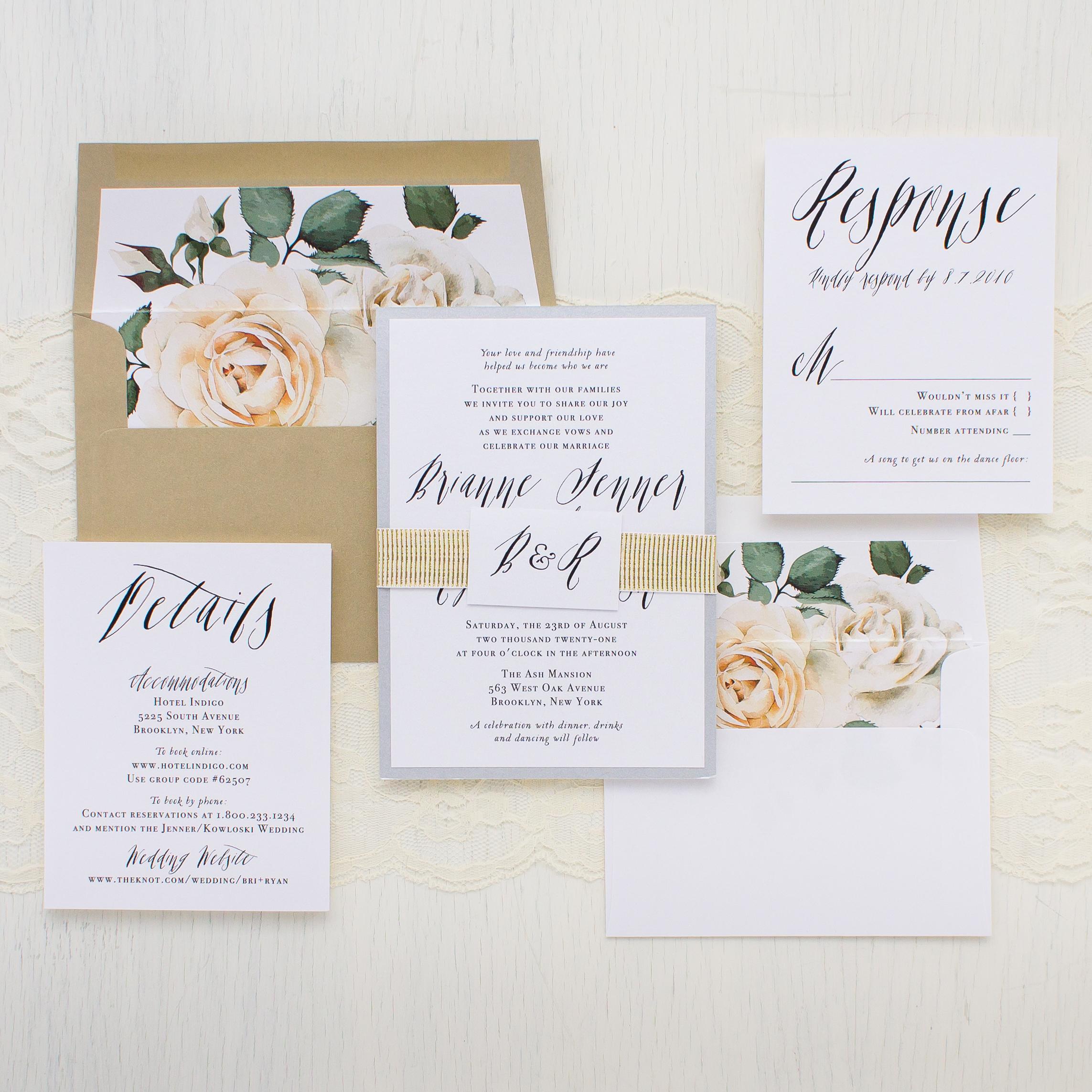 Matching Wedding Day Stationery: Modern Calligraphy | Beacon Lane