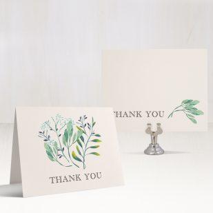 Navy Botanicals Thank You Cards
