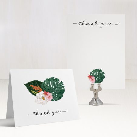 Palm Leaf Thank You Cards