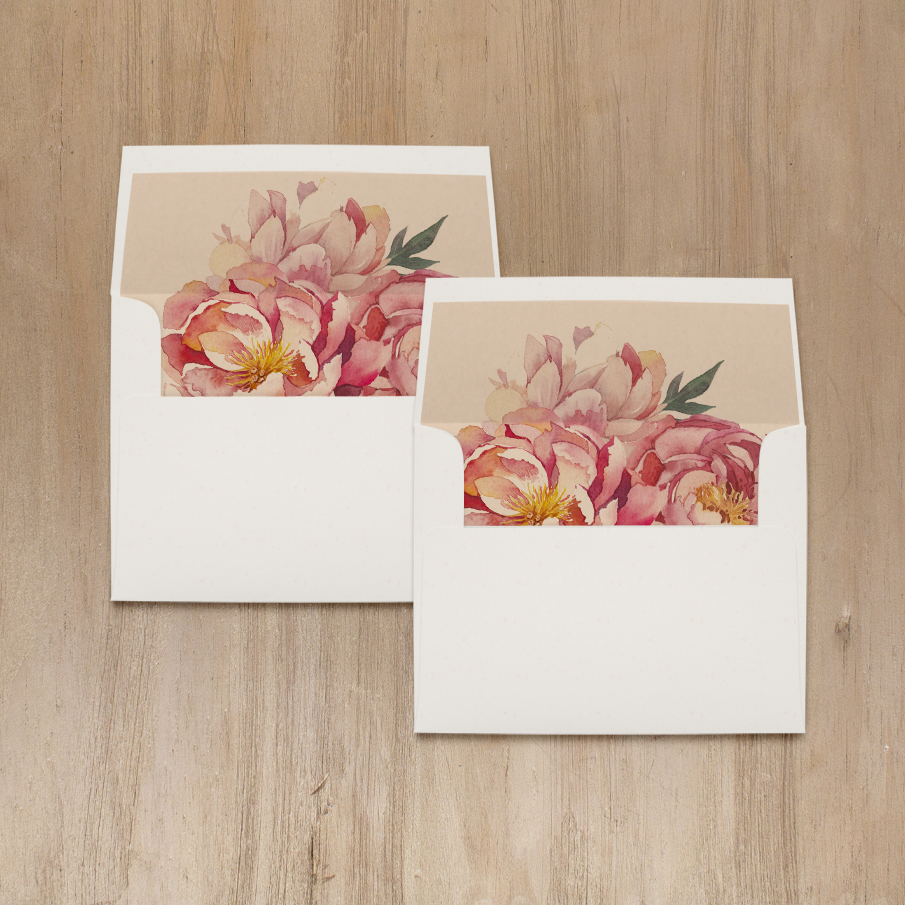 Pink Peonies Bridal Shower Thank You Cards