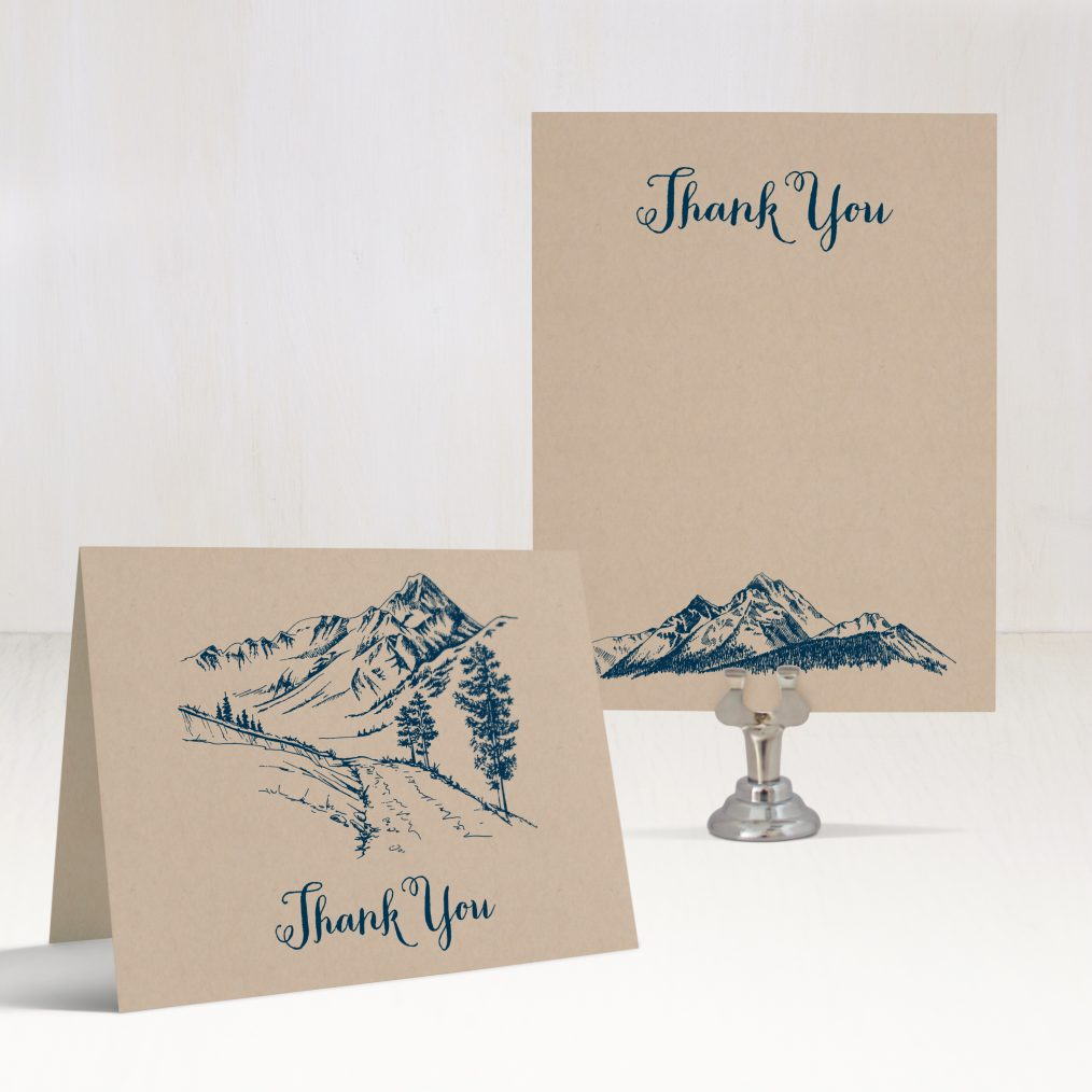 Rustic Mountain Thank You Cards