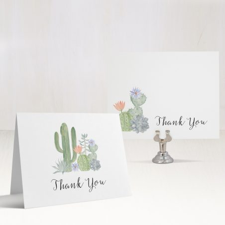 Sage Cactus Thank You Cards