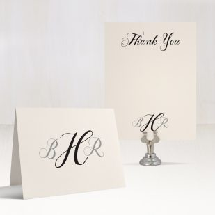 Simple Calligraphy Thank You Cards