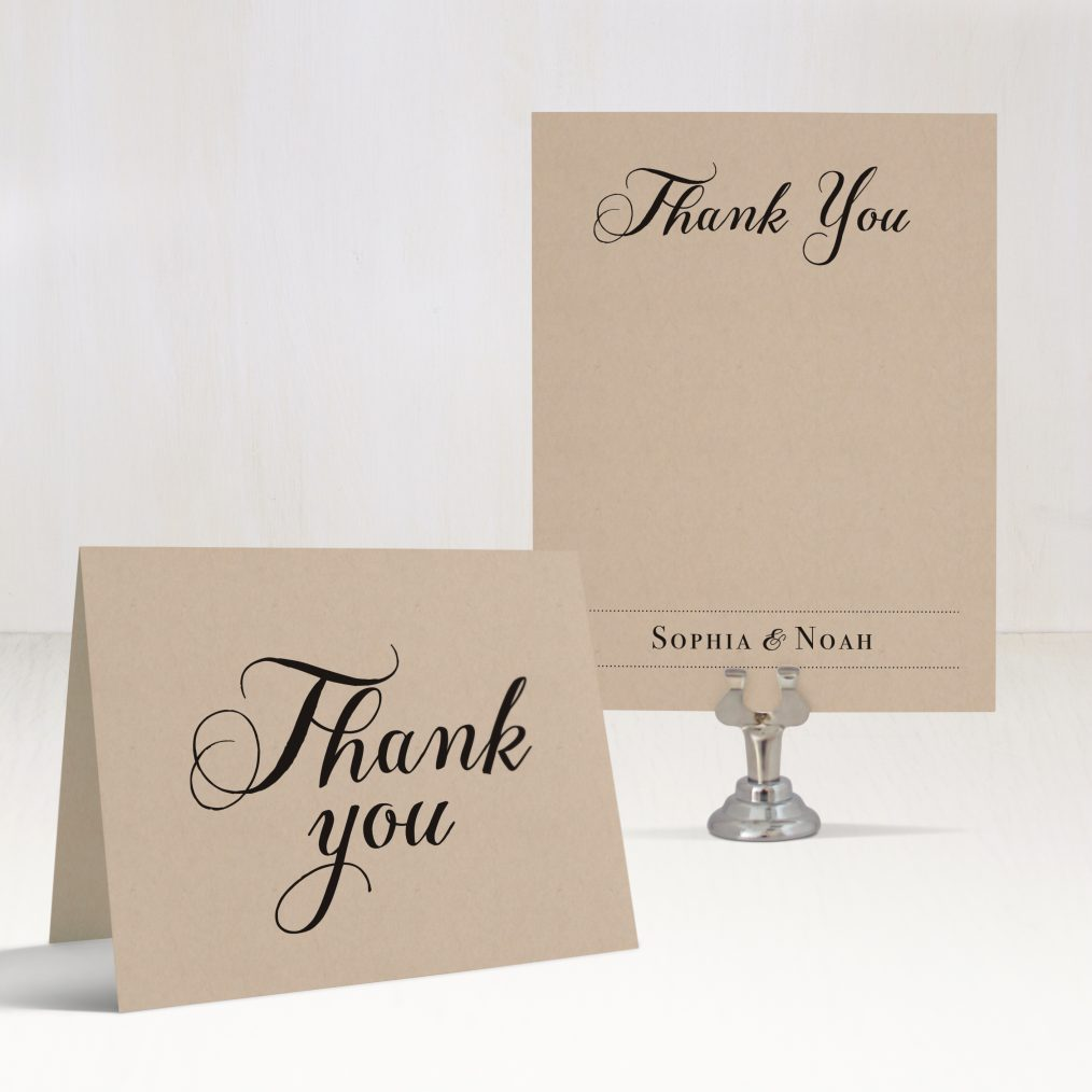 Simple Script Thank You Cards