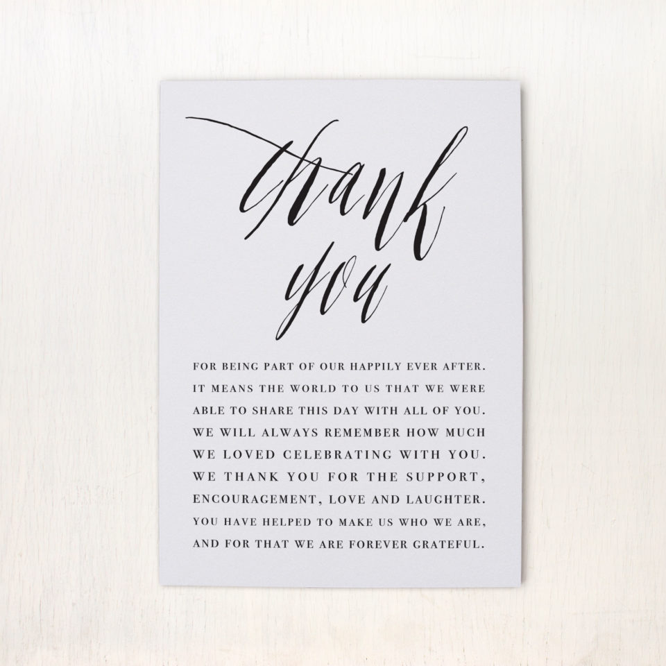 table thank you