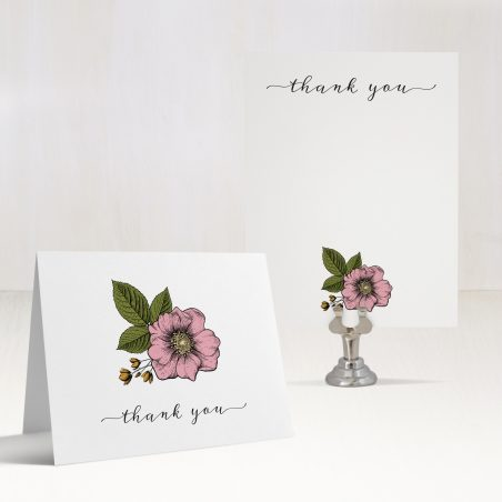 Vintage Copper Thank You Cards