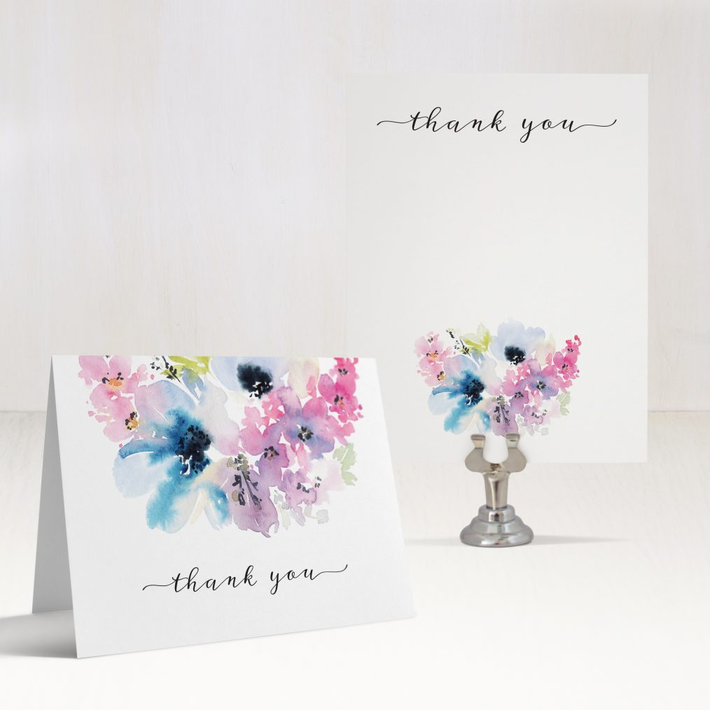 Vintage Lavender Thank You Cards