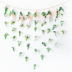 DIY Garden Floral Bridal Shower Backdrop