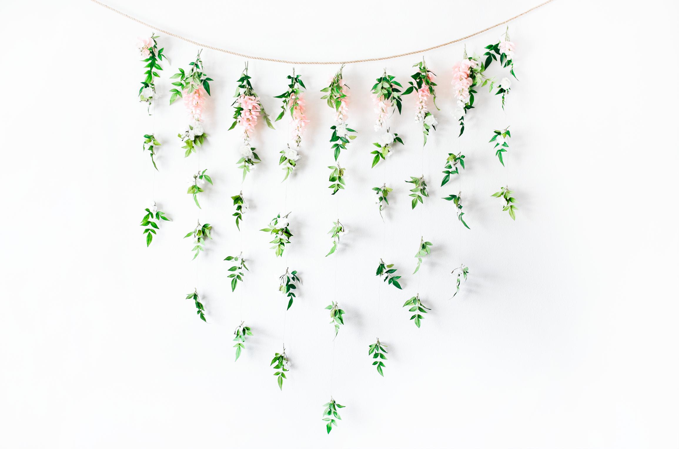 DIY Garden Floral Bridal Shower Backdrop