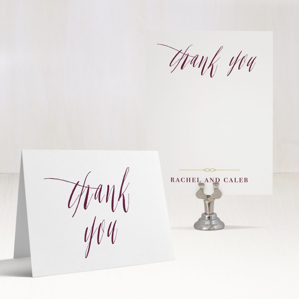 Blush & Burgundy Thank You Cards